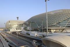 yas för uae för Abu Dhabi storslagna marinaprix Royaltyfria Foton