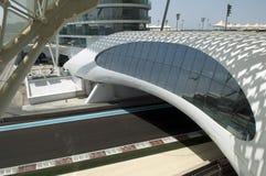yas för uae för Abu Dhabi storslagna marinaprix Arkivbilder
