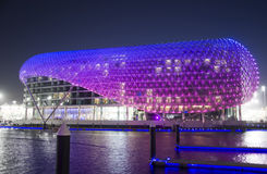Yas hotel over looking Yas Marina Stock Image