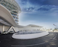 Yas Hotel in Yas Marina Stock Photos