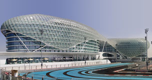 Yas Hotel and Yas Marina Circuit stock photo