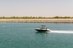 Yas Island/UAE στις 14 Νοεμβρίου 2017: Μαρίνα Yas στο νησί Yas, Αμπού Νταμπί Στοκ φωτογραφία με δικαίωμα ελεύθερης χρήσης