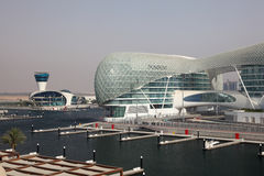 Yas Jachthafen in Abu Dhabi Stockbilder