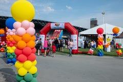 Yas Kids Festival,  Du Arena, Abu Dhabi, UAE. February 2, 2019 - Abu Dhabi, UAE: Colourful ballons at Yas Kids Festival Du Arena, Abu Dhabi, UAE editorial island royalty free stock images