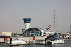 Yas Marina in Abu Dhabi Stock Image