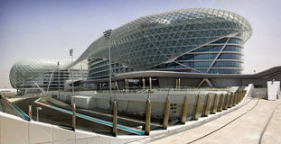 Yas Marina Circuit and hotel Royalty Free Stock Photo