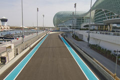 Yas Marina Formula 1 racetrack Royalty Free Stock Photos