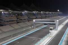 Yas Marina Formula One Circuit. Racing Track in Abu Dhabi, United Arab Emirates Stock Photo
