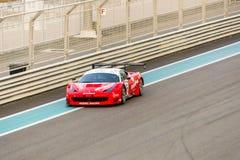 Yas Marina Racing Circuit Sports Car, die in Abu Dhabi läuft Stockfoto