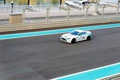 Yas Marina Racing Circuit Sports Car die in Abu Dhabi rennen Stock Afbeeldingen