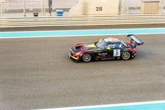 Yas Marina Racing Circuit Sports Car die in Abu Dhabi rennen Royalty-vrije Stock Afbeeldingen