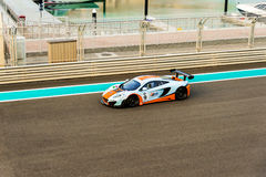 Yas Marina Racing Circuit Sports Car Racing in Abu Dhabi Royalty Free Stock Photos