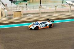 Yas Marina Racing Circuit Sports Car Racing in Abu Dhabi Royalty Free Stock Photos