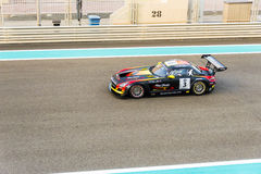 Yas Marina Racing Circuit Sports Car Racing i Abu Dhabi Royaltyfria Bilder