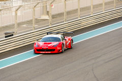Yas Marina Racing Circuit Sports Car Racing i Abu Dhabi Arkivfoto