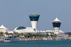 Yas Marina Tower in Abu Dhabi Royalty Free Stock Photo