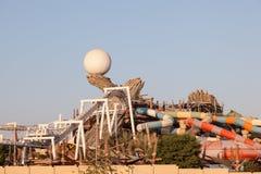 Yas Waterworld park rozrywki w Abu Dhabi Zdjęcia Royalty Free