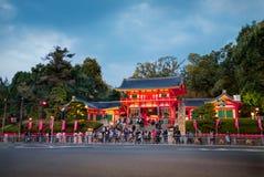 Yasaka Jinja寺庙在京都,日本 Yasaka寺庙(Yasakajinja) 免版税库存图片