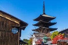 Yasaka-jinja寺庙塔  免版税库存照片