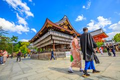 Yasaka-Jinja στο Κιότο στοκ φωτογραφίες με δικαίωμα ελεύθερης χρήσης