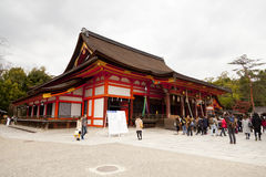 Yasaka Jinja em Kyoto, Japão Imagens de Stock Royalty Free