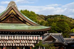 Yasaka Jinja i Kyoto i Japan royaltyfri fotografi