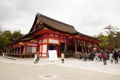 Yasaka Jinja a Kyoto, Giappone Immagini Stock Libere da Diritti