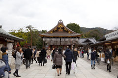 Yasaka Jinja a Kyoto, Giappone Fotografie Stock