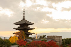 Yasaka Pagoda in the evening Royalty Free Stock Images
