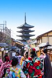 Yasaka pagoda is a five-story pagoda. This is the last remnant o stock images