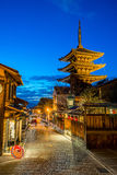 Yasaka pagoda with Kyoto ancient street in Japan Royalty Free Stock Photography