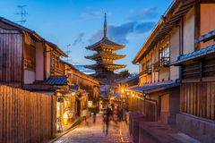 Yasaka pagoda with Kyoto ancient street in Japan Stock Photo