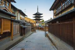 Yasaka pagoda with Kyoto ancient street in Japan Royalty Free Stock Photography
