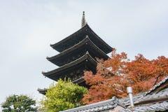 Yasaka pagoda with Kyoto ancient street. At Kyoto, Japan Stock Images