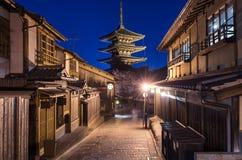 Yasaka Pagoda at night, Higashiyama, Kyoto, Japan Royalty Free Stock Images
