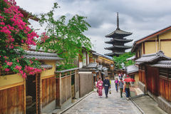 Yasaka Pagoda and Sannen Zaka Street in Kyoto, Japan Stock Photography