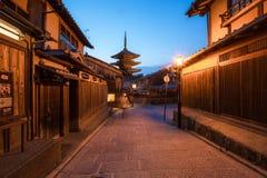 Yasaka Pagoda and Sannen Zaka Street Stock Photos
