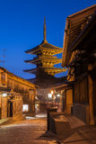 Yasaka Pagoda and Sannen Zaka Street Royalty Free Stock Images