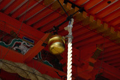 Yasaka Shrine's bell Stock Images