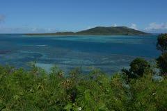 Yasawa海岛的鸟瞰图在斐济 库存图片