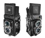 Yashica Mat -124 & Copal MXV cameras Royalty Free Stock Photos