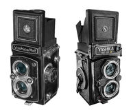 Yashica Mat -124 & Copal MXV cameras Royalty Free Stock Photos