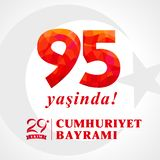 95 yasinda, 29 ekim Cumhuriyet Bayrami, giorno Turchia della Repubblica royalty illustrazione gratis