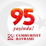 95 yasinda, 29 ekim Cumhuriyet Bayrami, jour Turquie de République illustration libre de droits