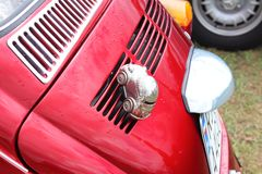 Yaslo Polska, Lipiec, - 1 2018: Tylny światło i zderzak samochodowa VW ściga Zbierać i przywrócenie starzy samochody Retro samoch obraz stock