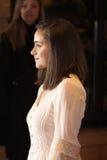 Yasmin Paige en la premier submarina Imagenes de archivo