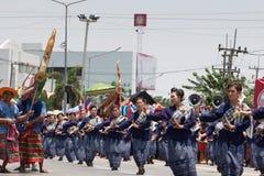 YASOTHORN, THAI-MAY 16 :未认出的舞蹈家执行在泰国D 免版税库存图片