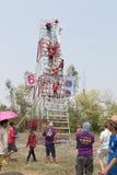YASOTHORN, THAI-MAY 15 :火箭准备好起飞被做在Fe 免版税库存照片