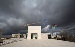 Yasser Arafat's tomb. The outside view of Yasser Arafat's tomb, Ramallah, Palestine Autonomous Areas. The photo was taken in February, 2013, 2 moths after the royalty free stock photography