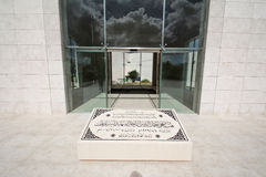 Yasser Arafat 's tomb. The outside view of Yasser Arafat's tomb, Ramallah, Palestine Autonomous Areas. The photo was taken in February, 2013, 2 moths after the Royalty Free Stock Photo